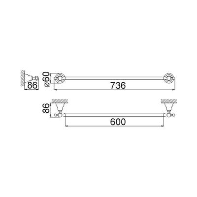 Cisal Arcana Handtuchhalter 60 cm
