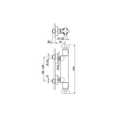 Cisal Barcelona Brause-Thermostatmischer