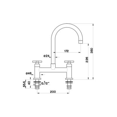 Cisal Kitchen 2-Loch Waschtischbatterie