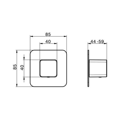 Cisal Cubic Fertigteilset Ventil