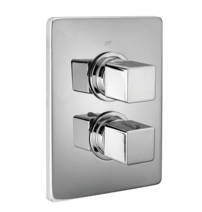 Cisal Cubic Sichtteil 2 Wege Unterputz-Brause-Thermostatmischer