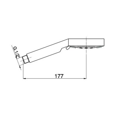 Cisal Shower Handbrause Linear