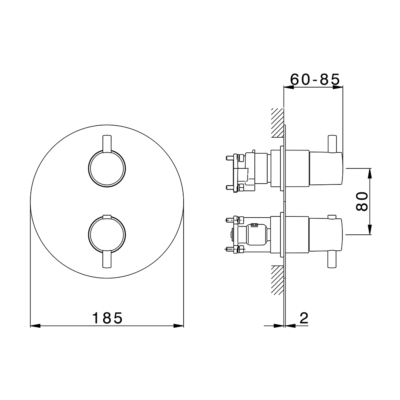 Cisal Less Minimal Fertigteilset One Box Thermostat