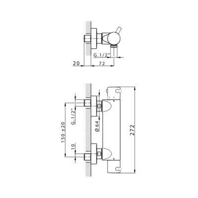Cisal Nuova Less Brause-Thermostatmischer