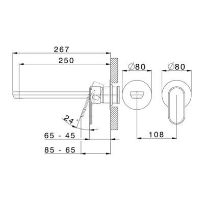 Cisal Lineaviva Sichtteil Unterputz Einhand-Waschtischmischer