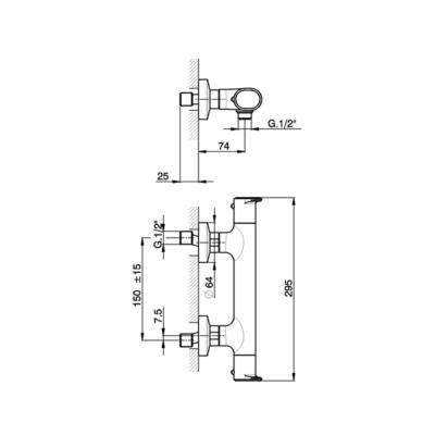 Cisal Lineaviva Brause-Thermostatmischer
