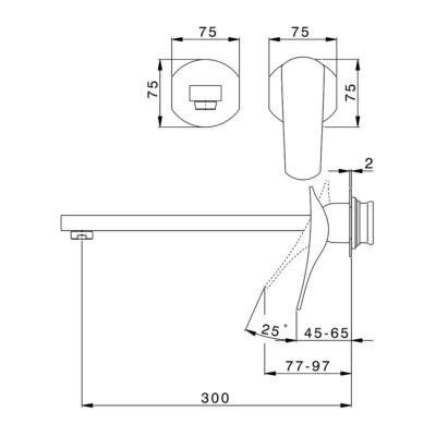Cisal Roadster Accent Sichtteil Unterputz Einhand-Waschtischmischer