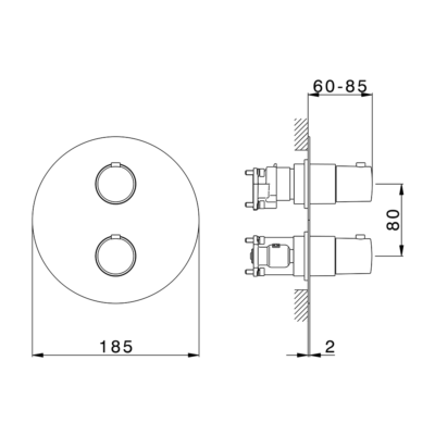 Cisal Slim Fertigteilset One Box Thermostat