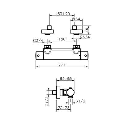 Cisal Slim Brause-Thermostatmischer