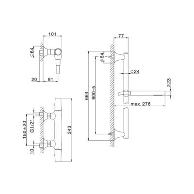 Cisal Vita Brause-Thermostatmischer mit Brausestange