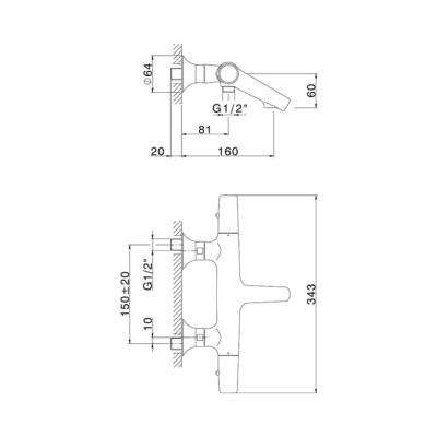 Cisal Vita Wanne-Thermostatmischer