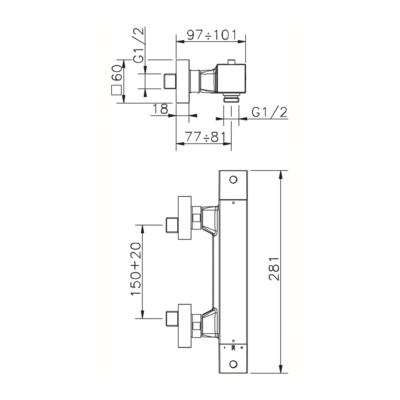 Cisal Wave Brause-Thermostatmischer