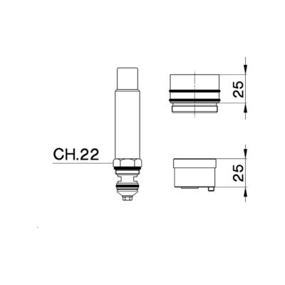 Cisal Zubehör Verlängerung +25 mm